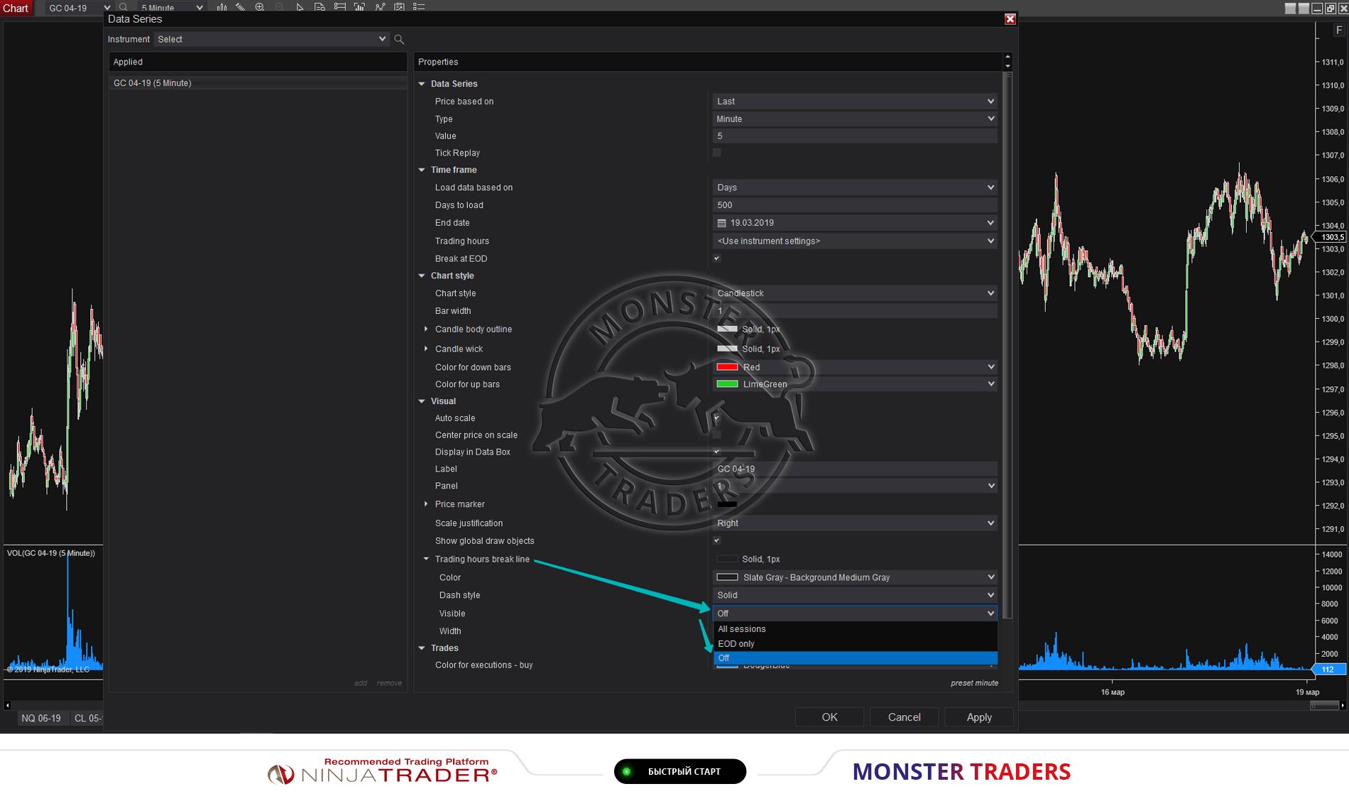 Удаление сетки на графике